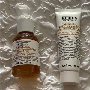 Kiehl's Makeup - Face wash and toner